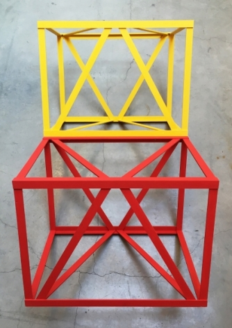 Rasheed Araeen Milaap 1968 (2016) Wood and paint 32 x 68 x 32 in.