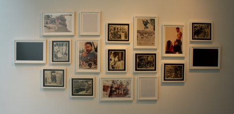 Abdullah M. I. Syed Block-busters Installation Needle tool on found photographs of Lollywood movies and found original studio photographs of Hollywood movie, Julius Caesar and photographic digital prints Various photographs and prints sizes (unframed): Minimum (8 x 10 inches), Maximum (10 x 15 inches) 2013