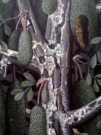 Rajan Krishnan PLANT FROM THE GROVE BY THE RIVER 1 2011 Acrylic on canvas 84 x 60 in.