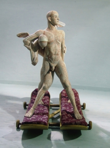 BATTLE OF ANGELS 2008 Fiber glass and wood 63 x 47 x 45 in.  NFS