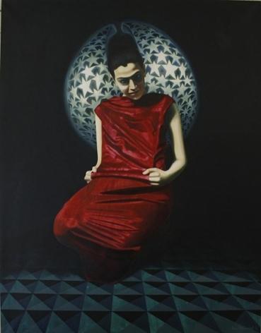 Sana Arjumand MASSIVE HUMAN SEARCH - 2 2010 Oil on canvas 54 x 42 in.