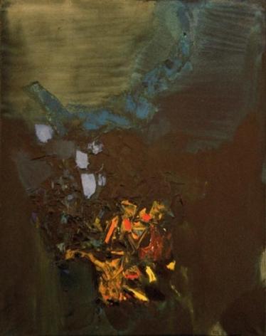S. H. Raza VALLEE DE GORBIO 1962 Oil on canvas 36.5 x 28 in.