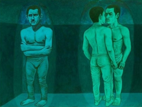 Anwar Saeed Together or Otherwise II 2010 Acrylic on paper 22 x 30 in NFS