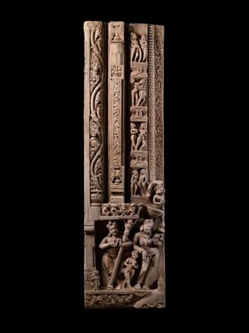 Door Jamb Pratihara Empire, Uttar Pradash Sandstone 12th Century Height: 67.5 in.