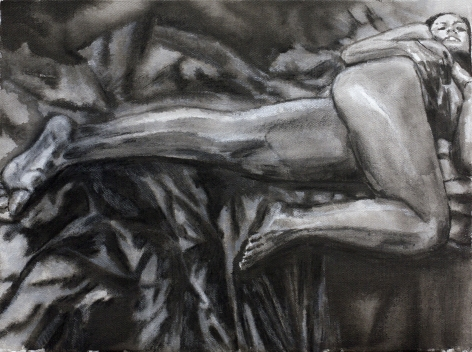 Sharmistha Ray NUDE 8 2013 Charcoal and ink on canvas 12 x 16 in.
