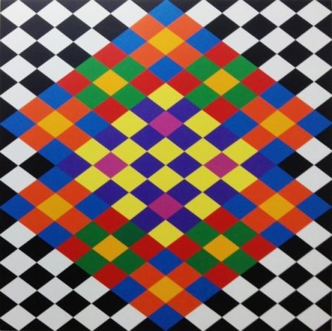 Rasheed Araeen Opus AA 1 2016 Acrylic on canvas 63 x 63 in.