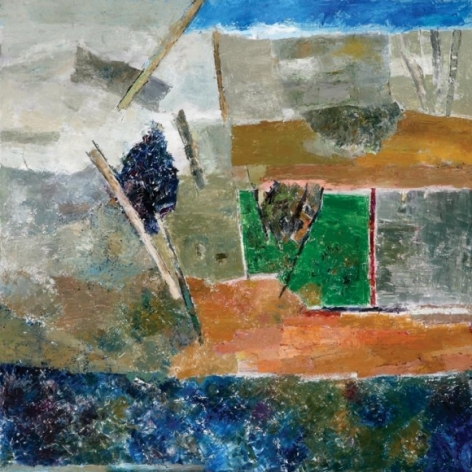 Ram Kumar UNTITLED LANDSCAPE 1 2009 Oil on canvas 36 x 36 in. NFS