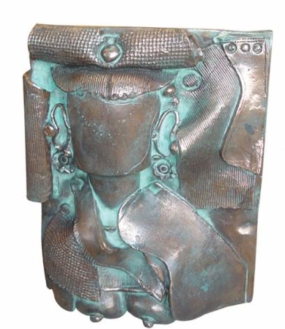 Laxma Goud PORTRAIT RELIEF 11 2007 Bronze 17 x 13 x 4 in.