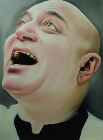 Riyas Komu Man Laughing ND Oil on canvas 60 x 48 in.