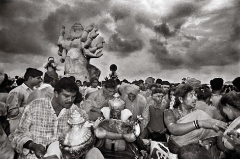 Raghu Rai GANPATI CELEBRATION, MUMBAI 2001 Digital scan of photographic negative on archival paper 20 x 30 in.
