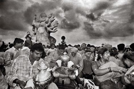 Raghu Rai GANPATI CELEBRATION, MUMBAI 2001 Digital scan of photographic negative on archival paper 20 x 30 in.