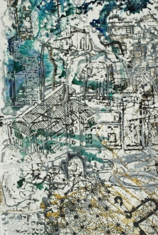 Jayashree Chakravarty UNTITLED 2 (CONSTRUCTING THE PRESENT) 2009 Acrylic and oil on canvas 120 x 69.2 in. NFS