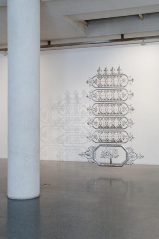 Adeela Suleman Untitled 3 (ed. 1 of 2) 2011 Stainless steel 106.5 x 72.5 in.  Photo: Goswin Schwendinger