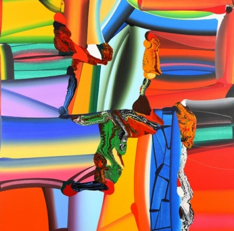 STRETCHED BODIES 35 2008 Acrylic on canvas 72 x 72 in.