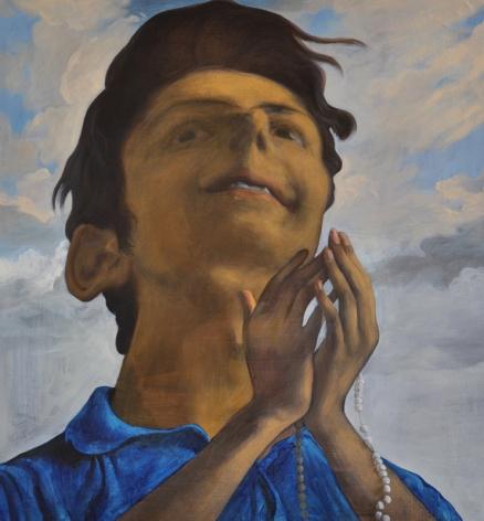 Salman Toor THE BELIEVER WITH TASBI 2013 Oil on linen 29 x 27 in.