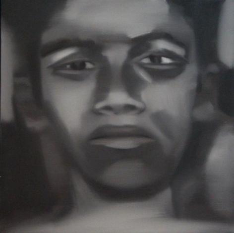 Riyas Komu BOYS I 2007 Oil on canvas 24 x 24 in.