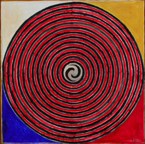 S.H Raza Kundalini 2011 Acrylic on canvas 47 x 47 in.
