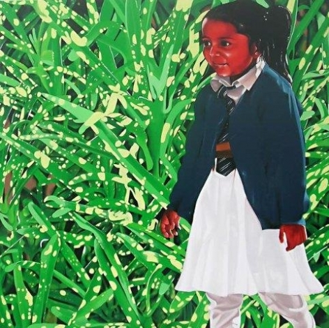 Binoy Varghese Multi-Story's / Stories 2008 Acrylic on canvas 72 x 72 in.
