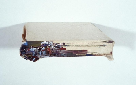 Saad Qureshi WE THE PEOPLE 2008 Oil and photograph on canvas 8 x 8 in.