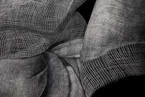 Adeel uz Zafar Drawing Appendage 3 (Detail) 2015 Engraved drawing on plastic vinyl 48 x 120 in.