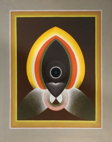 G.R. Santosh UNTITLED (GREY BORDER) Oil on canvas 50 x 40 in.  SOLD