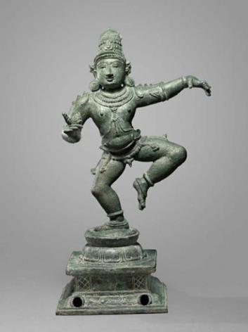 Saint Sambandar Southern India, Chola Period / 12th Century Copper alloy Height 15 in.