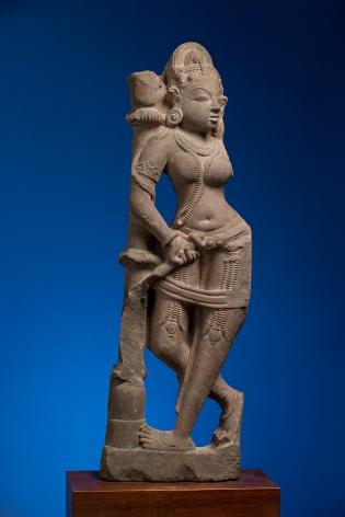 Sarasundari Central India Pink sandstone 11th Century Height: 26 in.