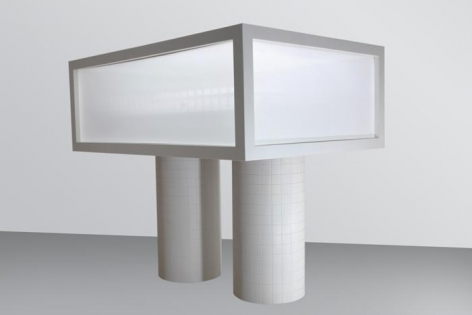 AMUSEUM/GHOST 2008 Corean, laminated polyurethane on forex, cine screen 66.25 x 47.25 x 24.25 in.