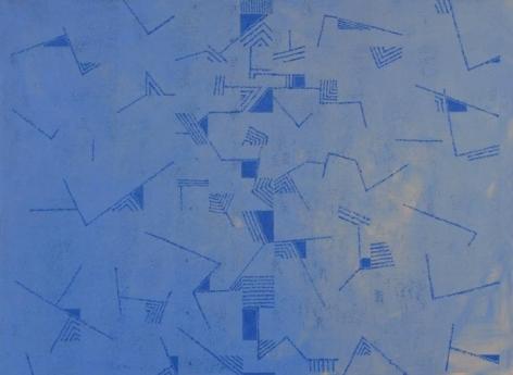 Akhilesh AUTOMATICALLY UNTITLED 2007 Acrylic on canvas 33 x 45 in.
