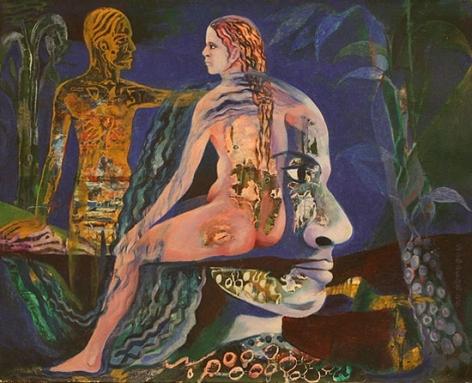 Sanatan Saha UNTITLED (BLUE) 2007 Acrylic and oil on canvas 15 x 18 in.