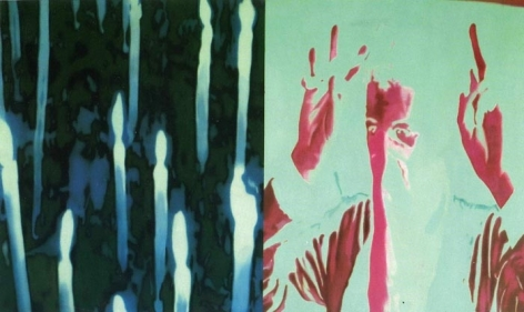 T. V. Santhosh PEACE PROTEST 2004 Oil on canvas 35.5 x 60 in.