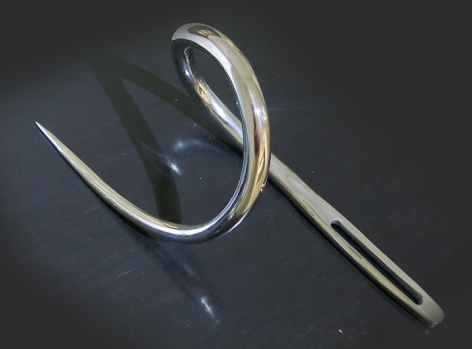 """Roohi Ahmad Or Knot To Be 3 2015 Chrome plated mild steel Needle: 32"""""""
