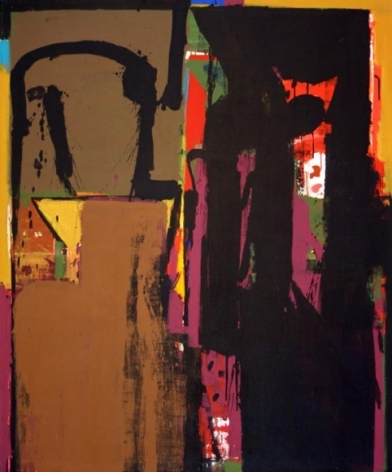 John Tun Sein UNTITLED ABSTRACT 19 2007 Acrylic on Canvas 48 X 39 in.