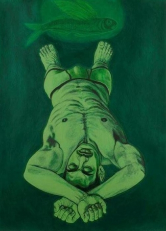 Anwar Saeed Dreams Involving Water 2010 Acrylic on paper 41 x 29 in