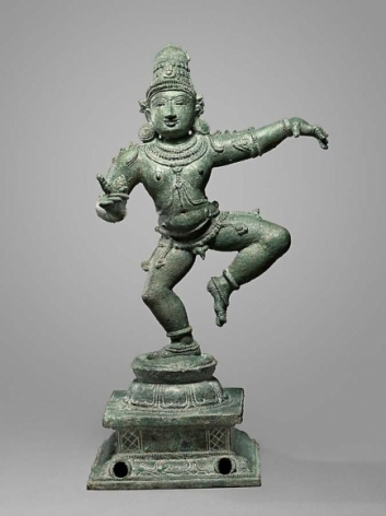 Saint Sambandar Sothern India, Chola Period 12th Century Copper alloy Height: 15 in.