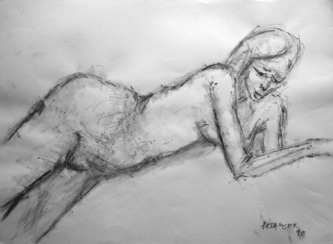 Akbar Padamsee NUDE 5 1995 Pencil on paper 11 x 15 in.
