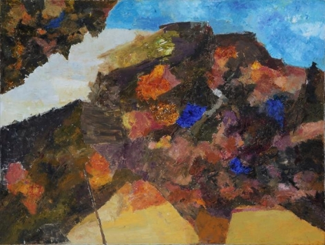 Ram Kumar UNTITLED LANDSCAPE 3 2008 Oil on canvas 36 x 48 in. NFS