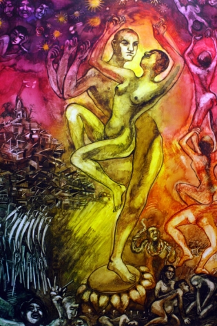 Shrilekha Sikander CROWNING GLORY Watercolor on paper 27.5 x 21 in.