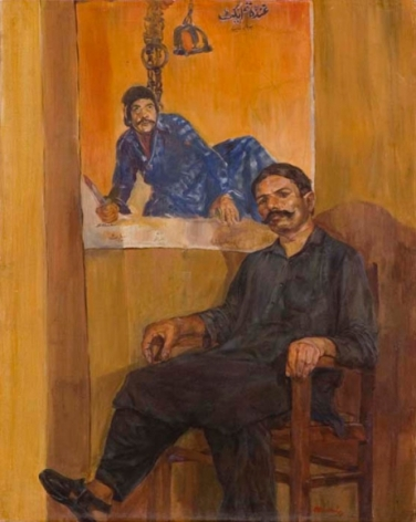 Ahmed Ali Manganhar HOLLOW MAN II Acrylic on canvas 40 x 32 in.