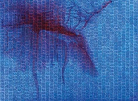 Akhilesh UNCONSCIOUSLY UNTITLED 2007 Acrylic on canvas 71.5 x 95.5 in.