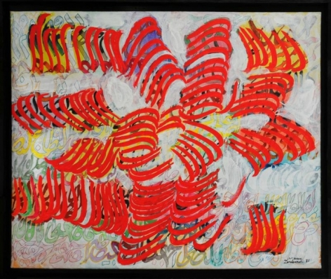 Charles-Hossein ZENDEROUDI LYRE OR LUTE 1987 Acrylic and tempera on canvas 44 x 53 in.