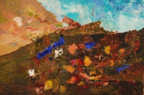 Ram Kumar Untitled Landscape (Village) 2009 Oil on canvas 24 x 36 in. NFS