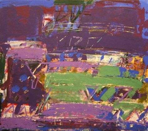 John Tun Sein UNTITLED ABSTRACT 17 2007 Mixed media on paper board 12.5 X 14 in.   SOLD