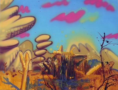 Mala Iqbal ALIEN ENCOUNTER 2010 Acrylic on linen 20 x 26 in.  NFS