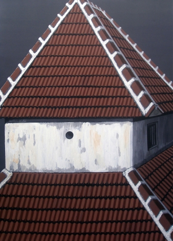 Rajan Krishnan House Near the Grove by the River 5  2011 Acrylic on canvas 84 x 60 in.
