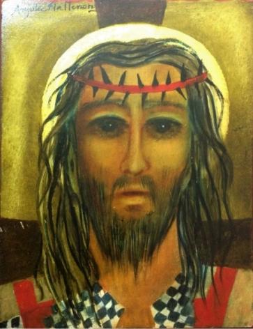Anjolie Ela Menon Christ 2016 Oil on masonite board 12 x 16 in.