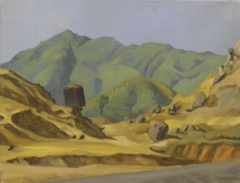 Sudhir Patwardhan UNTITLED LANDSCAPE 2 1988 Oil on canvas 15.5 x 19.5 in.