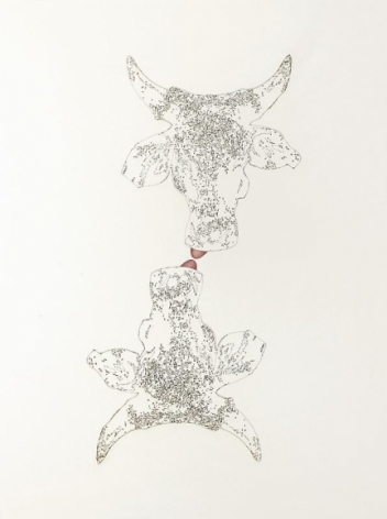 Muhammad Zeeshan SPECIAL 'SIRI' SERIES 11 2011 Gouache and laser score on wasli 26 x 20 in