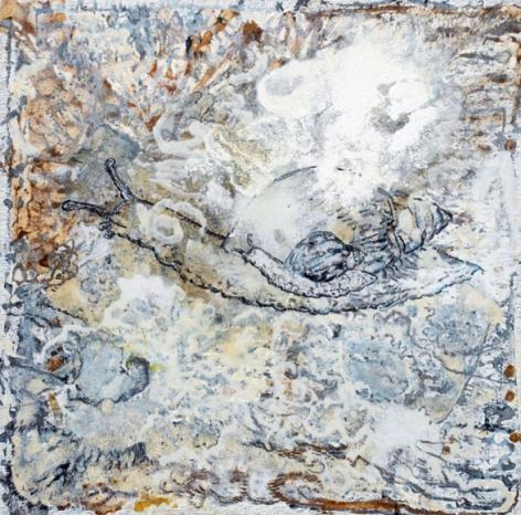 Jayashree Chakravarty UNTITLED 1 2009 Acrylic and oil on canvas 45 x 45 in.