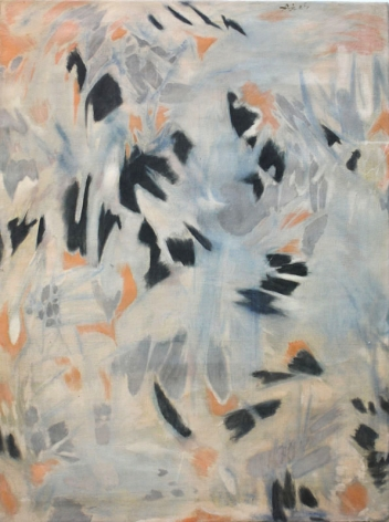 N. S. Bendre Untitled (Blue, Grey and Orange) 1965 Oil on canvas 48 x 36 in.